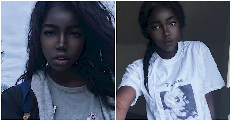 Creating Viral Social Content Was At The Black Heart Of: Gorgeous African American Model Calls Herself The Black